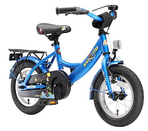 BIKESTAR Kinderfahrrad für Mädchen und Jungen ab 3-4 Jahre | 12 Zoll Kinderrad Classic | Fahrrad für Kinder Blau | Risikofrei Testen