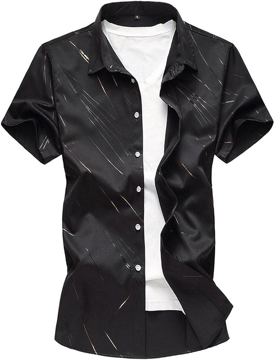 Men's Floral Buttoned Shirt Short Sleeve Casual Fully Printed Hawaiian Shirt