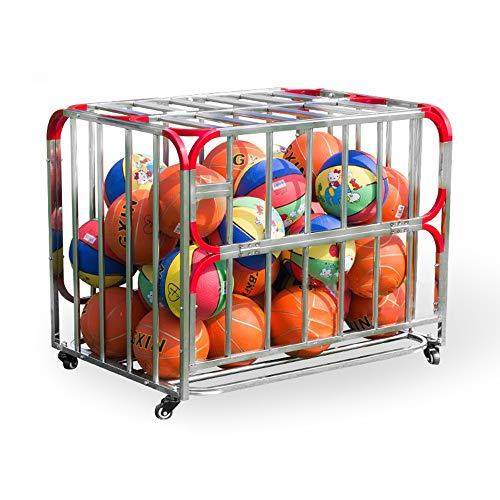 Estante de La Bola Carrito con ruedas de almacenamiento de deportes de pelota de la jaula de bola apilable Garaje Organizador de almacenamiento adecuados for Escuelas viviendas oficinas Rack de Almace