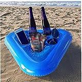 DierCosy Tenedor de Bebida Inflable, Bandeja de Bebidas flotantes Bebidas de Cerveza para Soporte para Soporte PVC Flotadores de la Taza móvil para la Fiesta de la Piscina