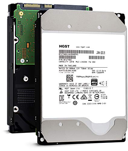 "HGST HUH728080AL4200 3.5"" 8TB SAS 12Gb/s 7.2K RPM 128M 0F23651 4Kn ISE Enterprise Hard Drive (Renewed)"