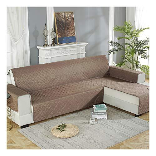 XCYYBB Fundas de sofá Impermeables Fundas de sofá de 3/4 plazas Protectores de sofá para Perros/Mascotas/Fundas de Muebles para niños Impermeables Funda Cubre Sofá -Marrón Right 240 * 270cm