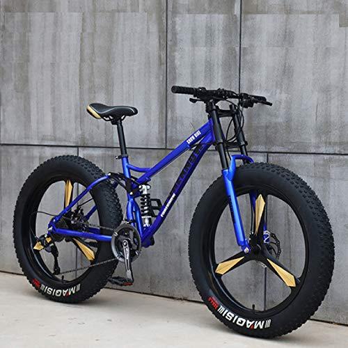 Nerioya Adult Mountainbike, Offroad-Schneemobil Mit Variabler Geschwindigkeit/Ultra-Wide 4.0-Reifen Mit Großem Reifen / 7-Gang / 21-Gang / 24-Gang / 27-Gang,E,24 inch 27 Speed