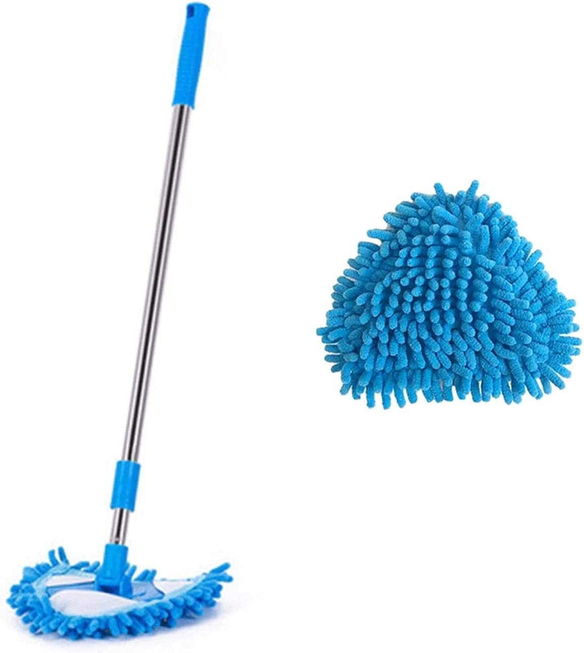 Beauty products Multifunctional Triangle Mop Special price for a limited time Microfiber Mini Tri Refill Blue