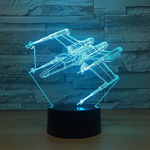 Decoración del hogar única avión led luz de noche 3d Galaxy touch USB luz de noche para dormir iluminación indirecta luz de humor luz de noche