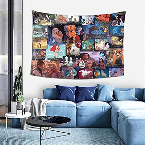 Tapiz de pared con diseño de princesa de Disney, para colgar en la pared, para dormitorio, sala de estar