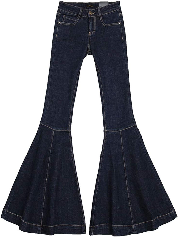 Fishtail Jeans Woman Super Vintage Slim Loose High Waist