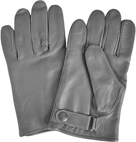 normani Bundeswehr Herren Handschuhe aus Rindsleder, Innenfutter Farbe Grau Größe S