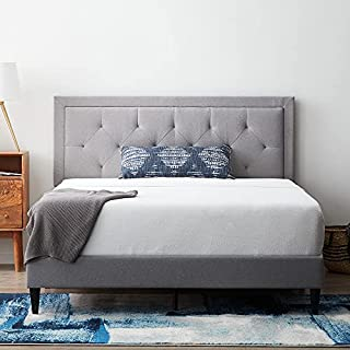 LUCID, Stone Upholstered Bed with Diamond Tufted Headboard-Sturdy Wood Build-No Box Spring Required Platform, King (B093MQ2HMY) | Amazon price tracker / tracking, Amazon price history charts, Amazon price watches, Amazon price drop alerts