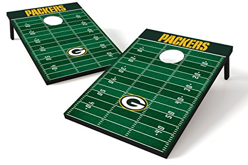 Wild Sports Green Bay Packers NFL Cornhole Outdoor Game Set, 2