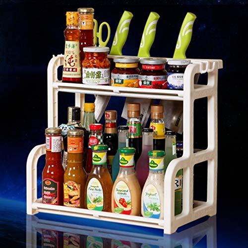 Keuken planken Zout en Zout Azijn Keuken Kruid kruiden Apparaten Kleine Afdeling Winkel Mes Houder 2-Layer Spice Rack Keuken Opslag Rack fsdfdsfgdsgfd