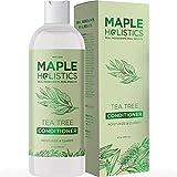 Maple Holistics Tea Tree Oil Conditioner + Colore Sicuro Forfora & Dry + capelli danneggiati Trattamento - 8 once Con Maple Holistics