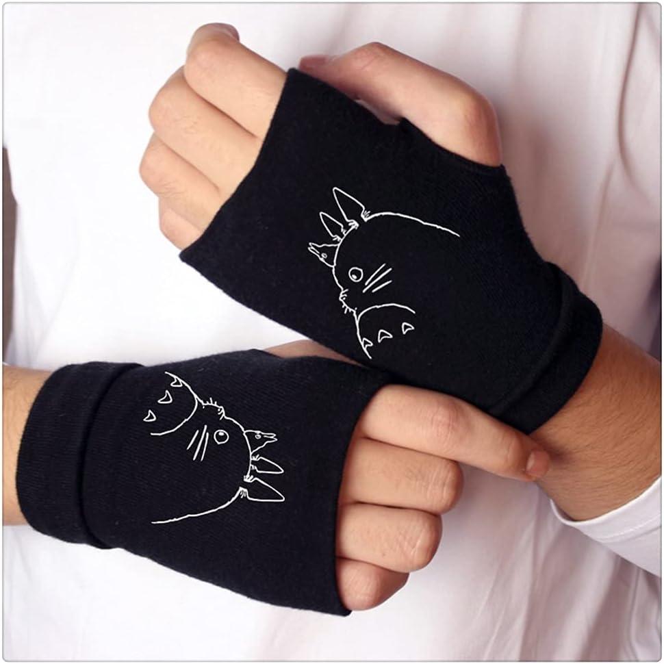 WBDL Knitting Gloves Cotton Warm Half Finger Wrist Mittens Fashion Cosplay Accessory Gift Winter