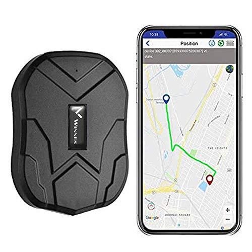 Winnes TK905B - GPS Tracker Localizzatore GPS per auto, in tempo reale, 150 giorni, con potente magnete antifurto Gratuito APP per Android iOS
