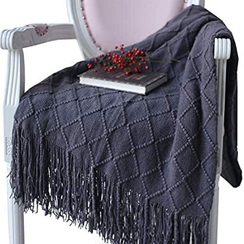 AJKLC Niedliche Decke Mit Fransen, Weiche Und Warme Wolldecke, Lebende Decke (Als Sofadecke/Schlafdecke Verwendet) 127 * 210cm 03