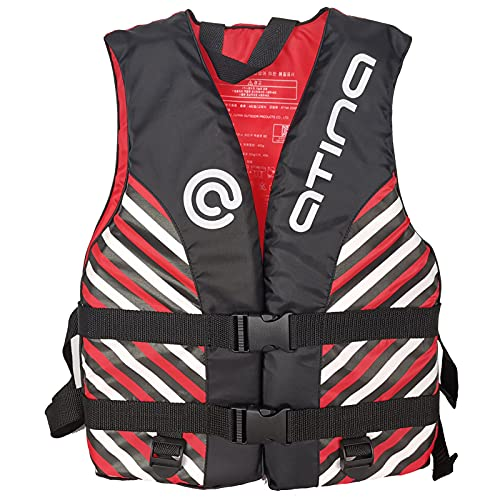 Q-YR Chaleco Salvavidas Agua para Niños Profesional Seguridad Safety Chaleco Ajustable por 7-10 Años De Edad para Buceo, Navegación, Natación,Rojo,S