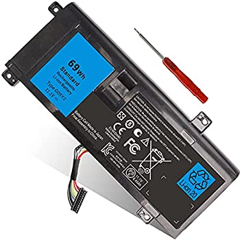 69WH Type G05YJ Laptop Battery Compatible with Dell Alienware 14 A14 M14X R3 R4 14D 14D-1528 ALW14D-5728 ALW14D-5528 14D-4828 Fits Y3PN0 8X70T P39G 0G05YJ