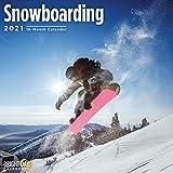 2021 Snowboarding Wall Calendar by Bright Day, 12 x 12 Inch, Snow Winter Sports
