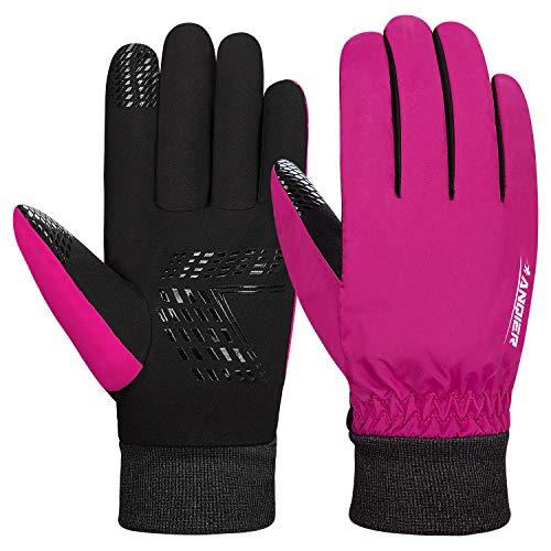 coskefy Fahrradhandschuhe Männer Winter Handschuhe Herren Damen Leicht Thermische Warm Winddicht Winterhandschuhe zum Radfahren Laufen Skifahren Reiten Laufen Wandern Motorrad Snowboard
