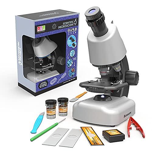 Beginner Microscope for Kids - Toddler Beginner Microscope 100X-1200X Microscope Science Kits for Kids Science Experiment Kits Microscope Kits