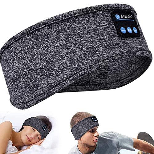 Auriculares para dormir con Bluetooth, auriculares Bluetooth 5.0, antifaz para dormir con música y altavoz estéreo HD ultrafino para siesta, deporte, yoga y viajes
