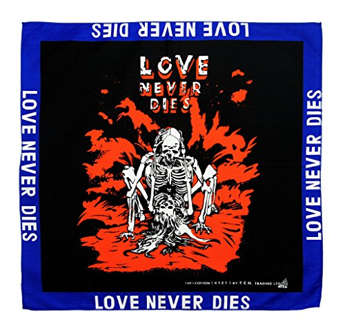 Love Never Dies Biker Foulard de Collier Bandana Rouge