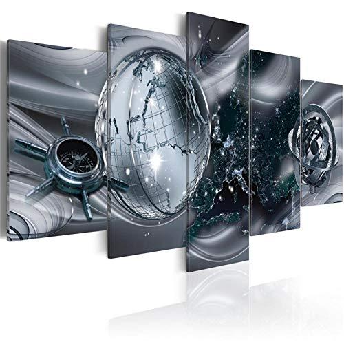 ARXYD 5 Stuks Muur Art Schilderij Home Decoratie Canvas Print Schilderij Module Foto 5 Stuks Animatie Jongen Ninja Hero Poster Muur Kunst Nachtkastje Achtergrond Panelen Canvas Muur Kunst Poster Bed 150*100 CM A7