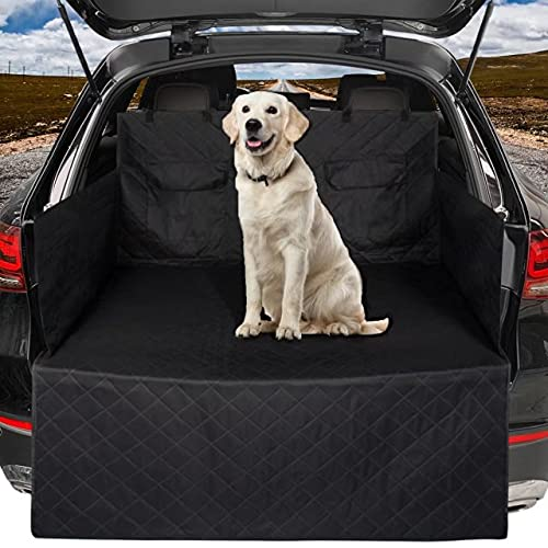 Car Boot Liners, Pet Boot Protector Cover, Universal Waterproof Boot Liner Bumper Protector for Cars, Heavy Duty Wipe Clean Tear Proof Dog Car Seat Cover