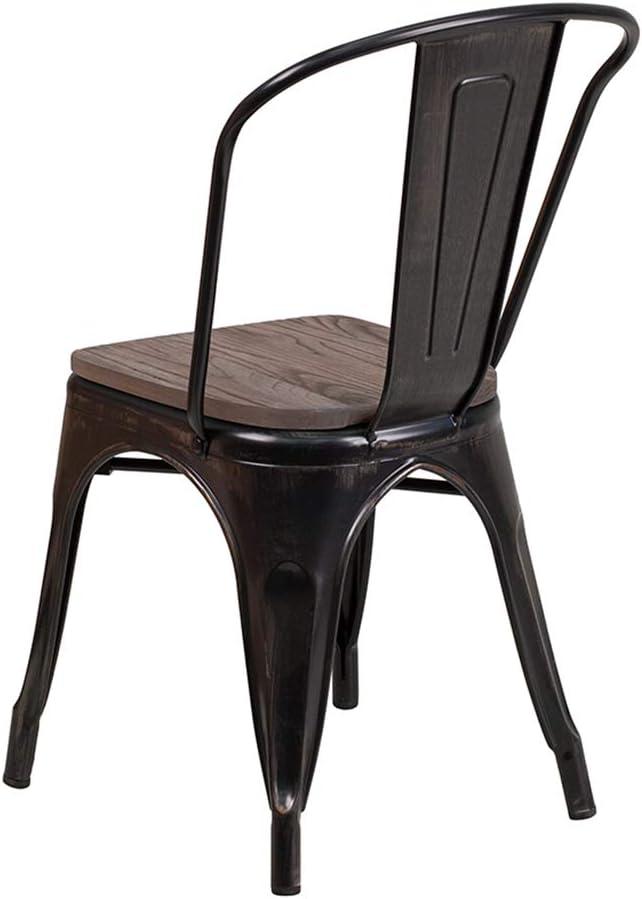 Flash Furniture Black Metal Stack Chair