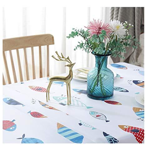 Hunterace PVC vinilo mantel mantel rectangular mesa cubierta para cocina limpiar plástico limpio (135 * 220 cm) -10