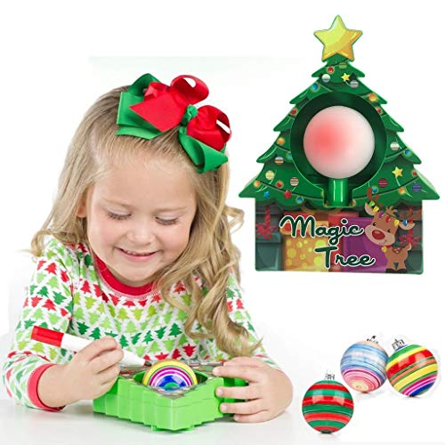 DIY Creative Christmas Ornament Decoration Kit - Electric Drawing Ball Christmas Tree - Children DIY Toy Gift with 3 Ornaments and 8 Colorful Markers, Best Gifts for Boys and Girls (1PC-B)