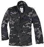 Surplus Men's US Field Jacket M65 Black Camo Size 4XL