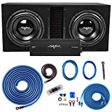 Skar Audio Dual 12' Complete 5, 000 Watt Subwoofer Bass Package - Includes Subwoofers in Ported Box with Amplifier