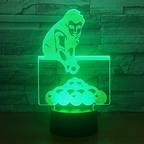 3D Illusion Led Nachtlicht Billardspiel Lampe Schlafzimmer Nachttischlampe 7 Farben Fernbedienung Usb Touch Illusion Lampe Für Kinderzimmer Decoration Kind Geburtstagsgeschenke