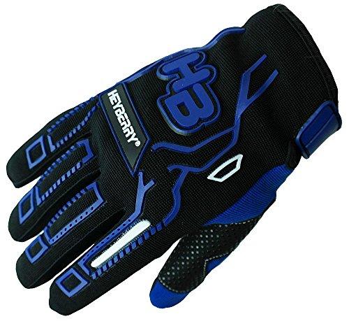 HEYBERRY Motocross MTB MX Handschuhe schwarz blau Gr. L