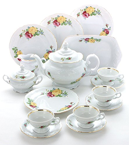 Best Review Of Wawel Tea with Grace European 16-Piece Fine China Tea Set for Children (Rose Bouquet)...