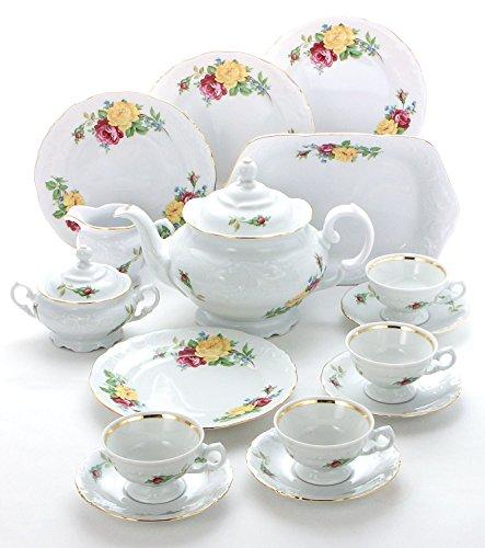 Best Review Of Wawel Tea with Grace European 16-Piece Fine China Tea Set for Children (Rose Bouquet)...