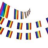 Pizies banderines con diseño de Rayas de arcoíris y Orgullo Gay Colorido Sorpresa Fiesta...