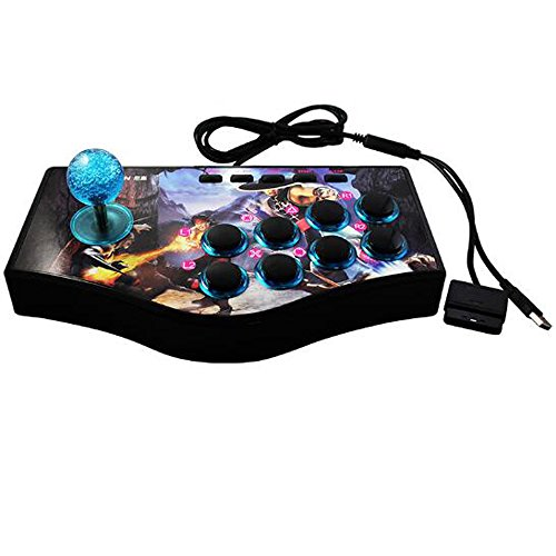 SUNCHI 3 in 1 Arcade Fight Stick Fighting Joystick Game Controller for PC / PS3 / Android TV Box/Raspberry Pi/Retro Pie