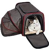 Petsfit Ausdehnbare Transportbox für Hunde und Katzen, Bequeme Haustiertragetasche, Schwarz, Seitige Erweitung, 48cm x 30cm x30cm (Groß)