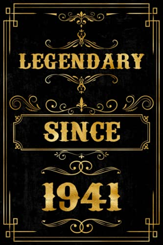 Legendary Since 1941 Notebook: Blank Lined Journal Notebook, Birthday Gift For Men and Women Who Born in 1941