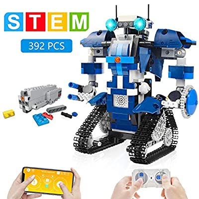 GP TOYS STEM Robot Building Kits for Kids- Remote Control Engineering Science Educational Learning Science Building Toys for Boys and Girls