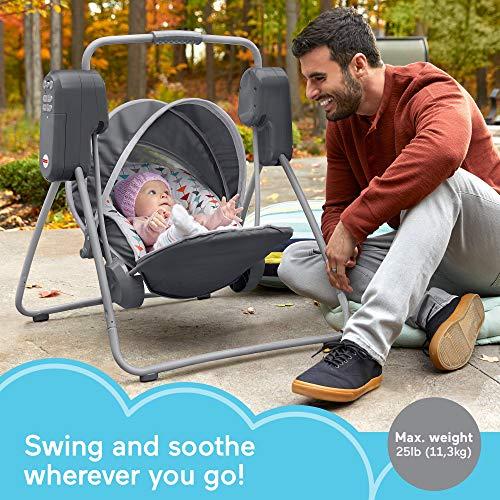 51EFff6jCwL 10 Best Portable Baby Swings on the Market 2021 Review