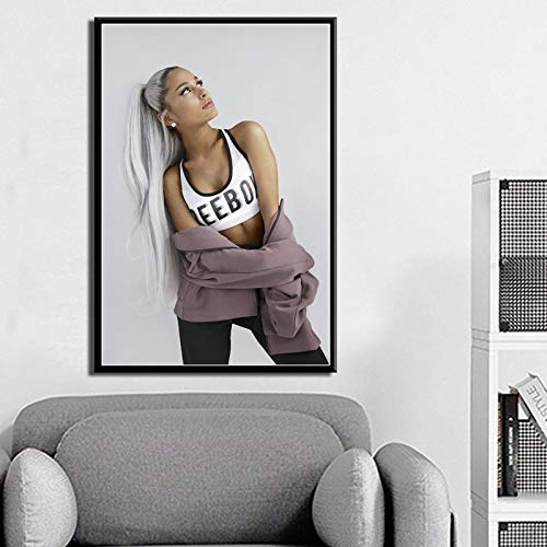 ganlanshu Pop Star Singer Pintura sobre Lienzo, decoración nórdica del hogar en la Pared,Pintura sin marco-40X60cm