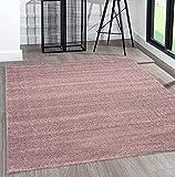 the carpet Alfombra moderna de pelo corto, muy suave, efecto mezclado, brillo elegante, lila, 80 x 150 cm