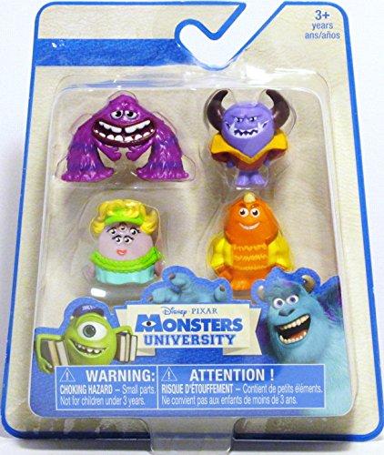 Monsters University Disney / Pixar Exclusive 1 Inch Mini Figure 4-Pack Art, Ms. Squibbles, George Sanderson & Johnny Worthington III