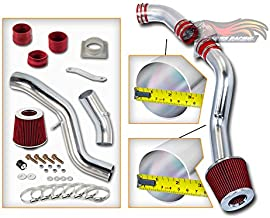 Rtunes Racing Cold Air Intake Kit + Filter Combo RED Compatible For 03-06 Nissan 350Z 3.5L