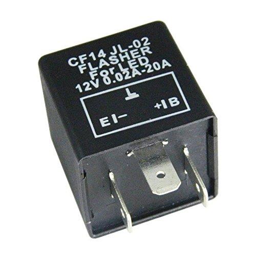 Mintice trade; Kfz Motorrad Lastunabhängig Blinkrelais LED-geeignet 12V 0,02-20A 3Polig Flasher Blinker KRAD CF14