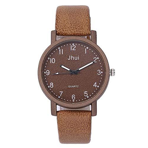SANDA Reloj Hombre,Reloj de Mujer Informal para Hombre, Relojes de Cuarzo para Hombre, Correa de Cuero, Pulsera de Moda, muñeca analógica, Reloj para niñas-mi