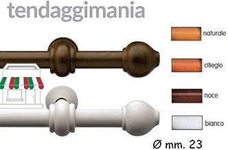 SupaDec Tringle /à rideaux en bois Finition blanche 150 cm Diam/ètre 28 mm